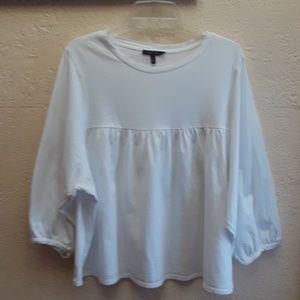 Olivia Sky Shirt, Puffy Sleeves, L/XL